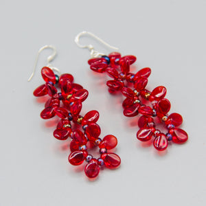 Charlotte Earrings in Red