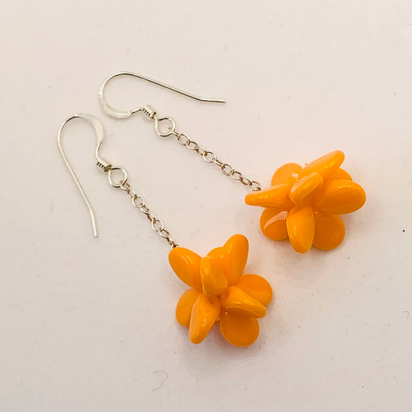 Heather Earrings in Bright Orange