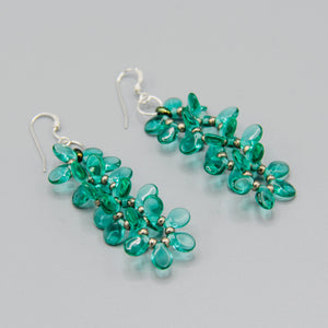Charlotte Earrings in Bright Green