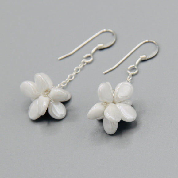 Heather Earrings in White