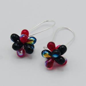 Tami Earrings in Shiny Red and Black