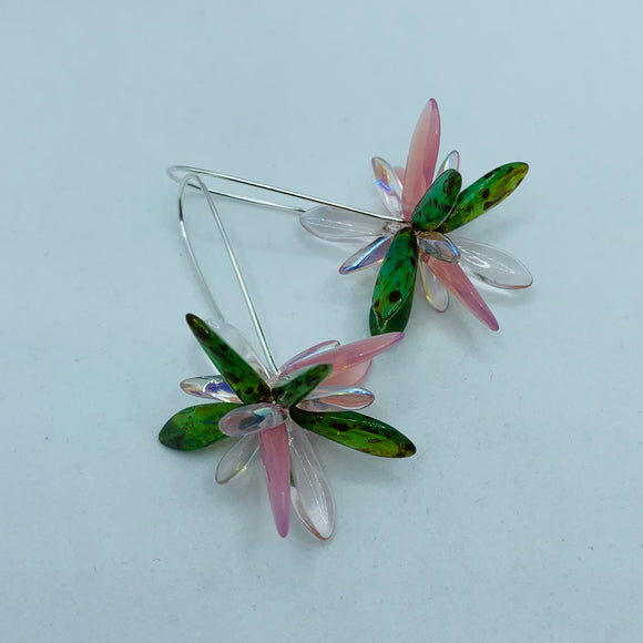 Eileen Earrings in Pink and Green