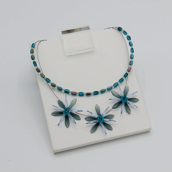 Anna Layered Necklace in Blue
