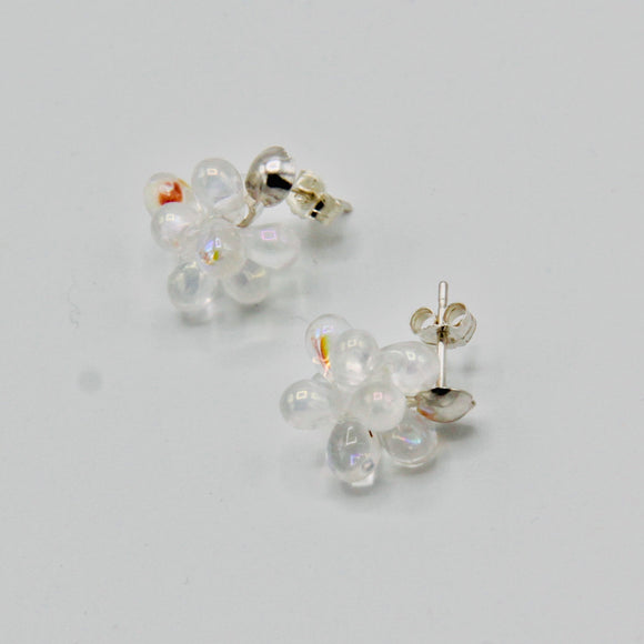 Taylor Post Earrings in Shiny Crystal Clear