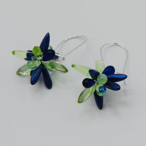 Mia Earrings in Purple and Green