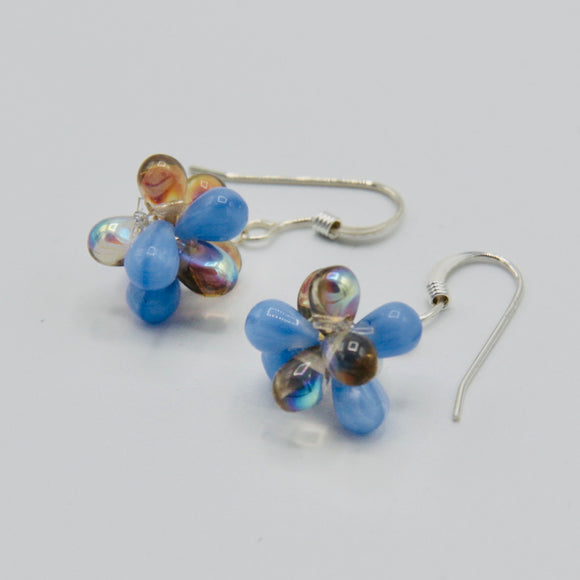Tara Earrings in Blue and Brown