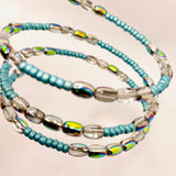 Whitney Bracelet in Turquoise with Metallic Rainbow