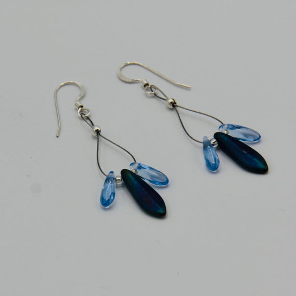 Janet Maxi Earrings in Blue
