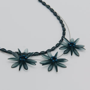 Anna Layered Necklace in Matte Classic Denim Blue
