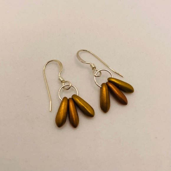 Janet Earrings in Matte Gold Honey