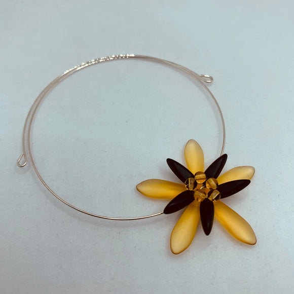 Zoe Bracelet in Matte Honey Yellow Gold and Black