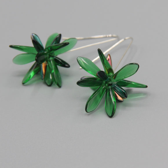 Natalie Earrings in Green