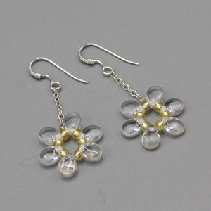 Daisy Earrings in Crystal Clear