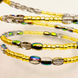 Whitney Bracelet in Light Gold with Metallic Rainbow