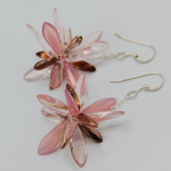 Laura Earrings in Soft Pink and Gold