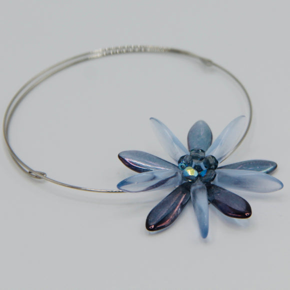 Zoe Bracelet in Iris Purple and Light Blue