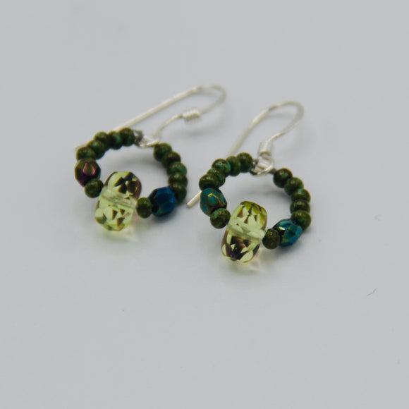 Hannah Earrings in Spring Green