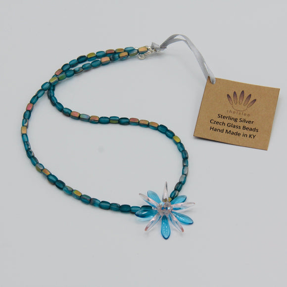 Elizabeth Beaded Necklace in Blue