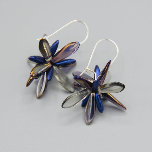Eileen Earrings in Luster Gray Purple