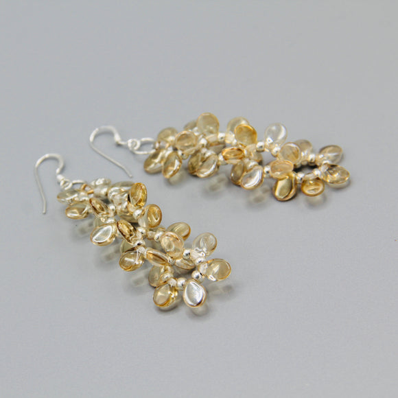 Charlotte Earrings in Crystal Gold