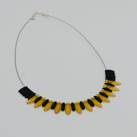 Rebecca Necklace in Black and Gold