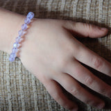 Shayna Girl's Bracelet in Purple Matte - Size Medium