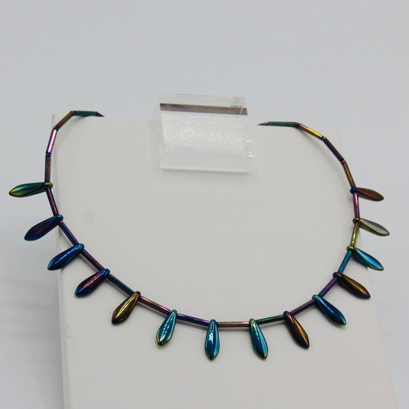 Rebecca Necklace in Blue Iris