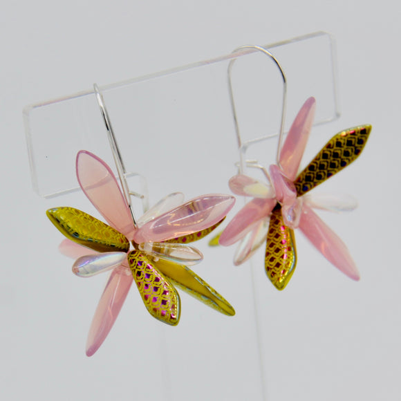Eileen Earrings in Laser Pink Yellow