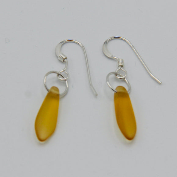 Jane Earrings in Matte Golden Yellow