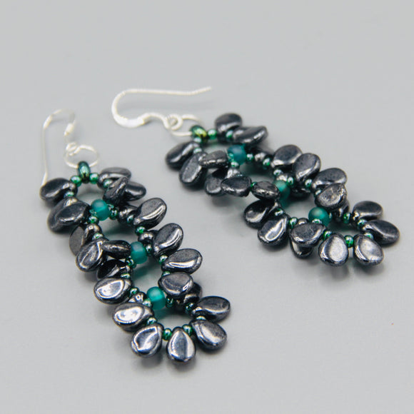 Charlotte Earrings in Metallic Gray