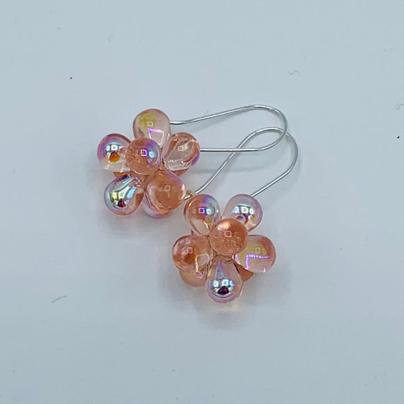 Tracy Earrings in Shiny Light Pink