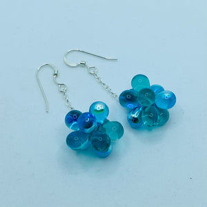 Erica Earrings in Aqua Blue and Green
