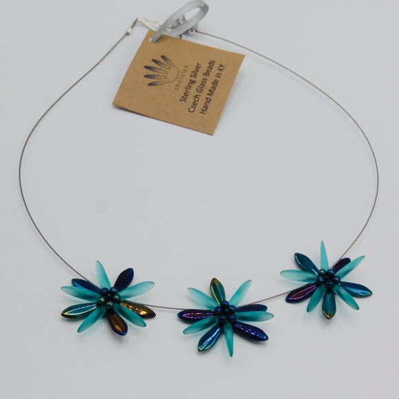Anna Necklace in Turquoise and Blue Iris