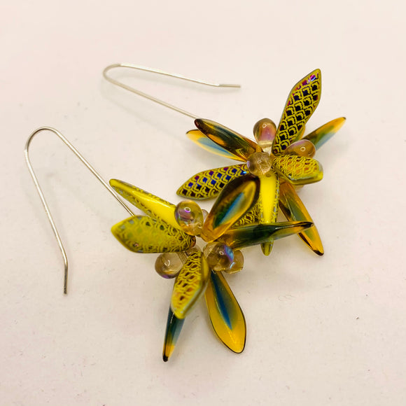 Natalie Earrings in Laser-Etched Honey Yellow