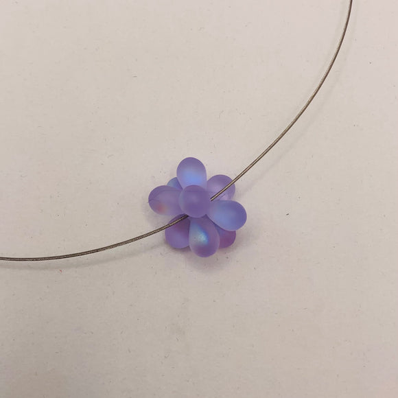 Beatrice Necklace in Matte Purple
