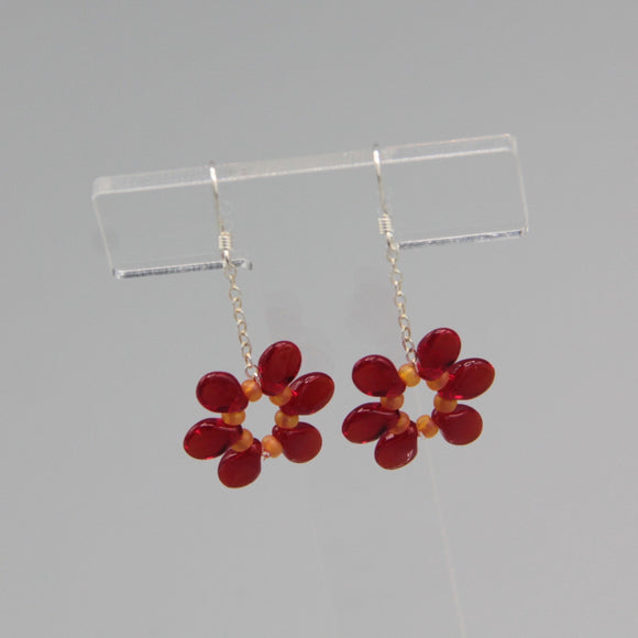 Daisy Earrings in Red