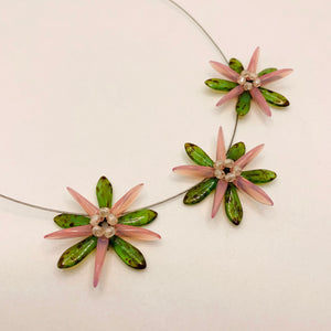 Anna Necklace in Pink and Green