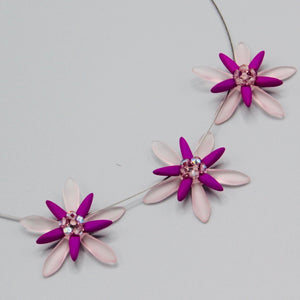 Anna Necklace in Neon Purple and Pink with Lilac Accents