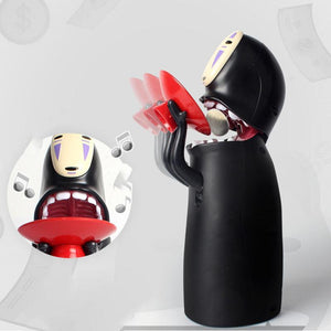 Faceless Man Ghost Figure Electronic Coin Bank