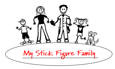 My Stick Figure Family Car Window Stickers