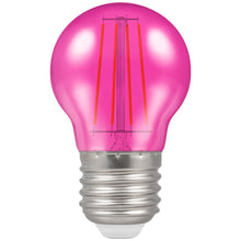 Crompton LED Filament Harlequin Round ES E27 4W - Pink