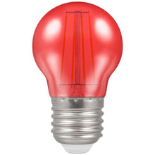 Crompton LED Filament Harlequin Round ES E27 4W - Red