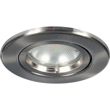 Megaman Leora GU10 Fire Rated Fixed Downlight - Fixture Only - Satin Chrome