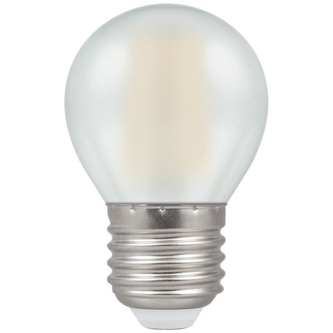 Crompton LED Round ES E27 Filament Pearl 4W - Warm White