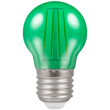Crompton LED Filament Harlequin Round ES E27 4W - Green