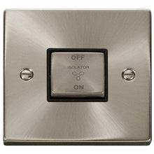 Click Scolmore Deco Satin Chrome 1 Gang Plate Switch 10A With Black Ingot - VPSC520BK