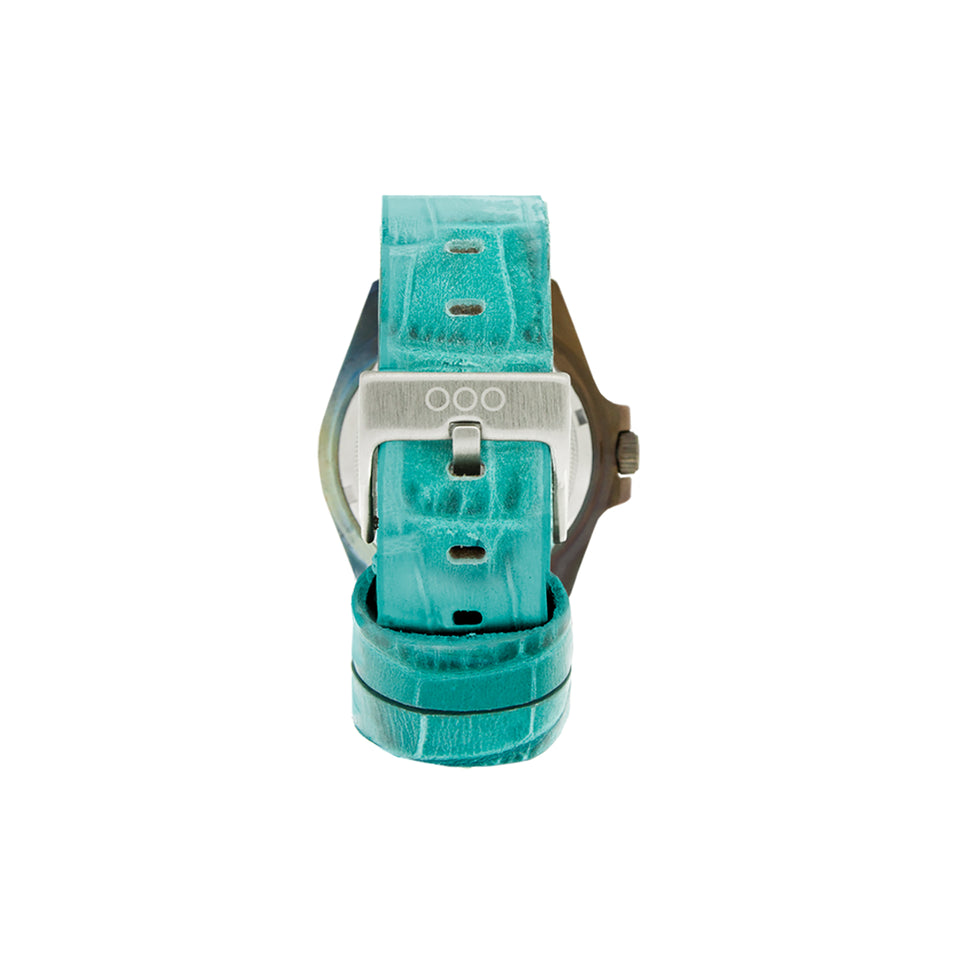 Mint Croco Leather