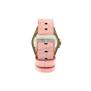 Pink Croco Leather
