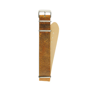 Light Brown Military Strap 22mm