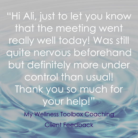 MY WELLNESS TOOLBOX COACHING CLIENT FEEDBACK